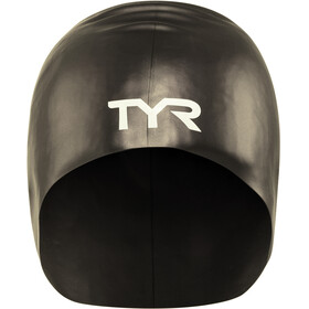 TYR Wrinkle-Free Long Hair Gorro de natación, black